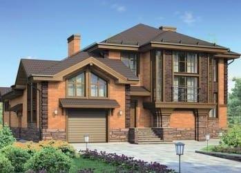 Проект кирпичного дома 46-83