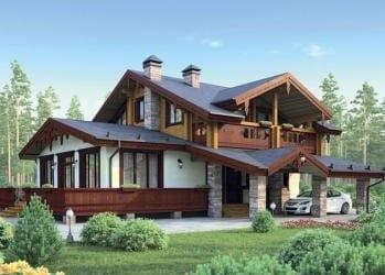 Проект кирпичного дома 47-83