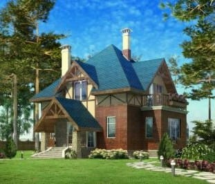 Проект кирпичного дома 48-63