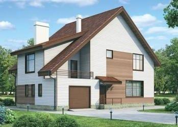 Проект кирпичного дома 51-73