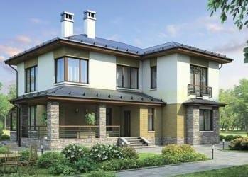 Проект кирпичного дома 53-83
