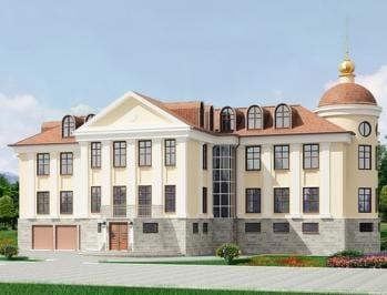 Проект кирпичного дома 54-53