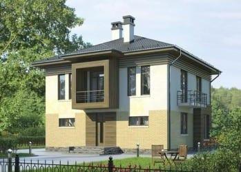 Проект кирпичного дома 54-83