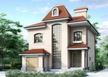 Проект кирпичного дома 56-43