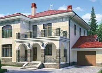 Проект кирпичного дома 57-53