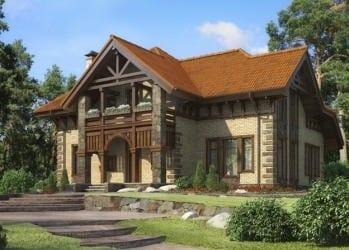 Проект кирпичного дома 59-63