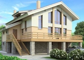 Проект кирпичного дома 62-63