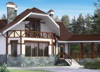 Проект кирпичного дома 63-43
