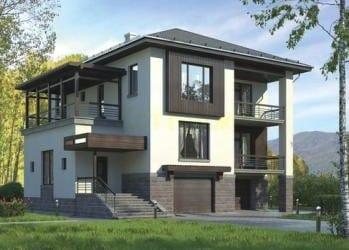 Проект кирпичного дома 63-83
