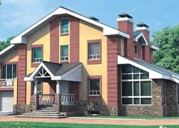 Проект кирпичного дома 64-33