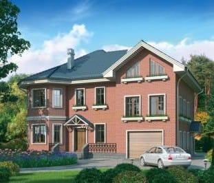 Проект кирпичного дома 66-73