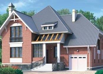 Проект кирпичного дома 69-33