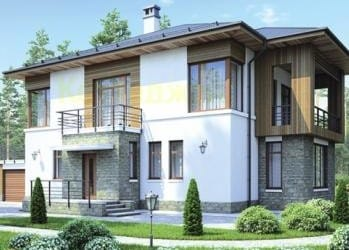 Проект кирпичного дома 74-83