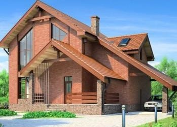 Проект кирпичного дома 85-63
