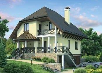 Проект кирпичного дома 85-73