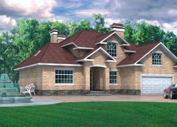Проект кирпичного дома 88-13