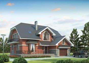 Проект кирпичного дома 88-63
