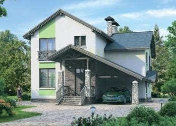 Проект кирпичного дома 96-73