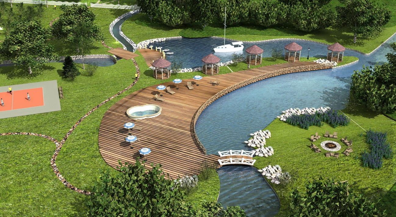 Проект базы отдыха (турбазы, парк отеля)