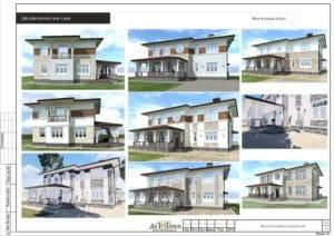 Проект дизайна фасада дома