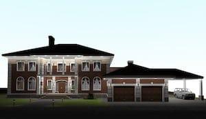 Проект дома из сруба