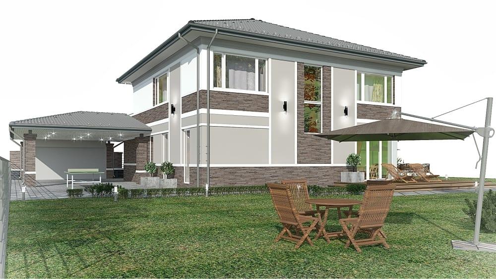 Проект дизайн фасада дома - Арт-Терем