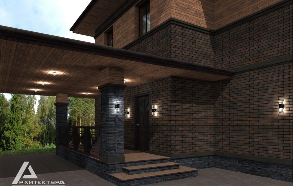 Проект загородного дома в стиле Райта