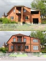 Реконструкция дома. Проект дизайна фасада