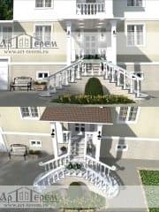 Проект дизайна фасада и реконструкции входной группы